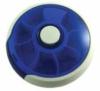 7-day round rotating plastic pill organizer