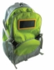 600D nylon multipocket backpack with solar panel for charging any cell phone or MP3/MP4 player