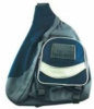 Shoulder backpack in 600D nylon with solar panel for charging any cell phone or MP3/MP4 player