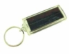 Solar panel key chain with message display