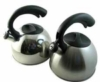 Stainless steel teapots with laser etching capabilities
