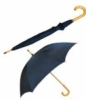 Umbrella with wood handle and imprint capability