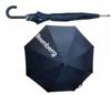 Plastic handle umbrella with one color logo