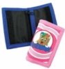 Kid's 210D nylon wallet with custom molded PVC logo