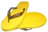 Adult flip flops with custom logo opportunity on the straps and soles