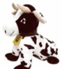 Custom shaped cow with logoed tag
