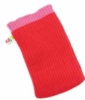 Cotton PMS matched iPod sock with logoed tag