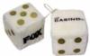 Custom plush car dice with embroidery