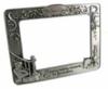 Custom shaped metal photo frame