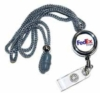 Pull away identification holder with logo