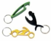 Custom shape stainless steel bottle opener key ring
