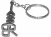 Custom stainless steel branding iron key ring