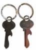 Custom stainless steel bottle opener with key ring