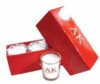 Set of 3 scented candles in a custom gift box