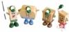 Set of 4 custom shaped figures for kids meal
