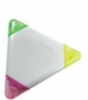 Triangle shaped 3 color highlighter with imprint capability
