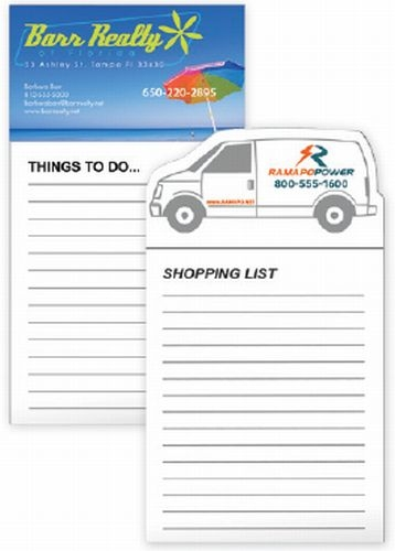 Business Card Magnet & 50 Sheet Non-Adhesive Notepad —30 MIL.