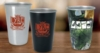 Stainless Pint Glass (Silver)-16 oz.