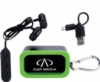 Bluetooth® Earbuds in Carabiner Case - New