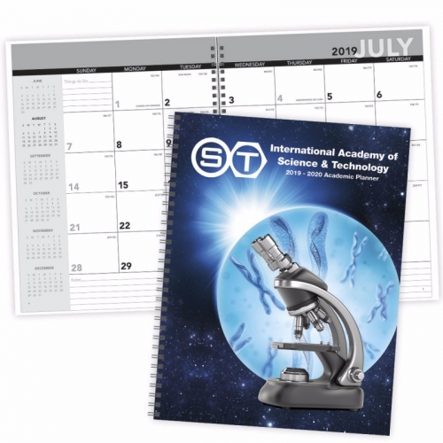 Academic Year Desk Planner with Custom Cover