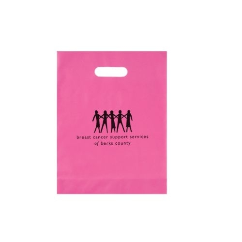 Frosted Die Cut Plastic Bag (12