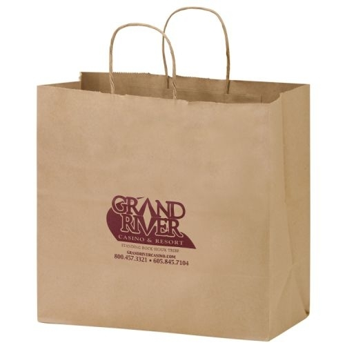 Natural Kraft Paper Carry-Out Bag (13