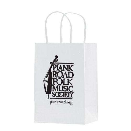White Kraft Paper Shopper Tote Bag (5 1/2