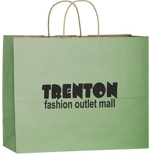 Matte Color Paper Shopper Tote Bag (16