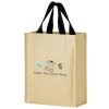 Non-Woven Hybrid Tote with Paper Exterior (9 1/4