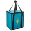 Insulated Non-Woven Square Zipper Top Tote Bag w/Insert (12