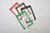 Vertical Top Load Color Frame Vinyl Badge Holder W/ Slot/ Chain Holes