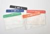 Horizontal Top Load Color Bar Vinyl Badge Holder (3 3/4
