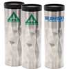 16 Oz. Prism Double Wall Stainless Steel and Plastic Travel Mug