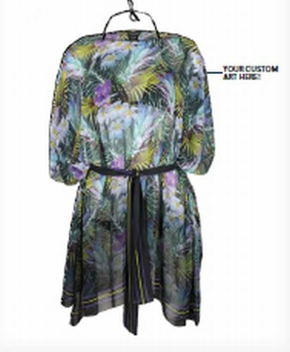 SUBLIMATED BEACH COVER-UP