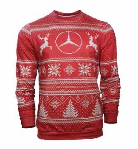 KNIT AND SUBLIMATED HOLIDAY SWEATER - New - (SUBLIMATED)