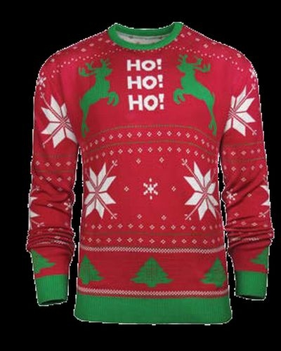 KNIT AND SUBLIMATED HOLIDAY SWEATER - New - (SWEATER KNIT)