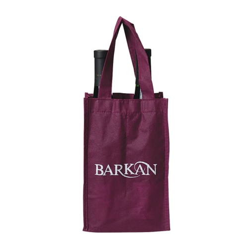 Clearance Item! Polypropylene Double (Two) Wine Bottle Tote Bag
