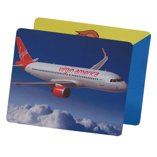 Soft Rubber & Jersey Mouse Pad w/ Full Color Dye Sublimation