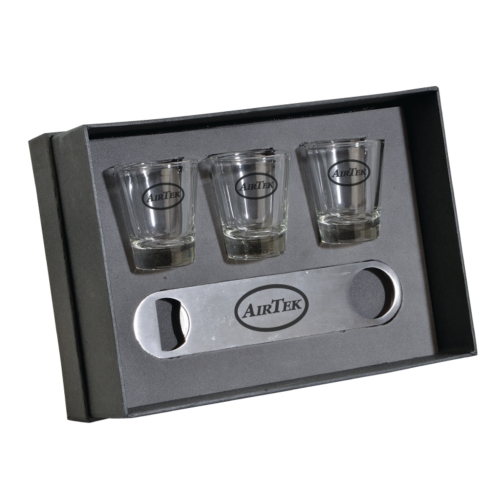 The Nordic Speed Opener and Shot Glass Gift Set