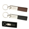 Leather & Silver Keyring