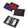 Nylon Keyring Wallet w/Clear & Exterior Pockets