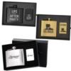 Deluxe 5 oz. Flask and Oil Flip Top Lighter Gift Set