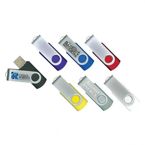 Steel Swiveling USB Flash Drive 8GB