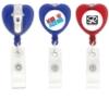 Heart-Shaped Retractable Badge Holder