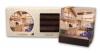 CoasterStone Dark Wood Stand Gift Set w/ 4 Square Coasters