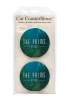 CoasterStone Absorbent Stone Car Coaster - 2 Pack (2 5/8