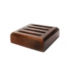 Dark Wood Slotted Stand (Holds 4 Round Coasters)