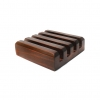 Dark Wood Slotted Stand (Holds 4 Square Coasters)