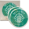 CoasterStone Round Absorbent Stone Coaster - 2 Pack (4 1/4