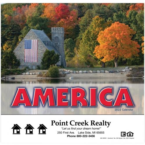 2022 America! Wall Calendar - Stapled